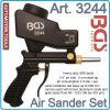 Пясъкоструен пистолет, пневматичен, Мини бластиращ апарат, 600ml, 8Bar, BGS, 3244