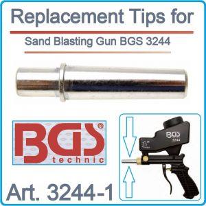 Дюза, резервна за пясъкоструен пистолет, мини, 5mm, BGS, 3244-1