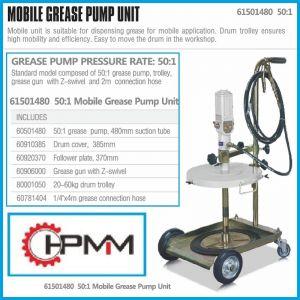 Грес помпа, пневматична, с количка, к-т, 60Kg, HPMM, HP61501480