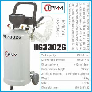 Помпа, за масло, шприц, за наливане, 8Bar, 30L, HPMM, HP33026
