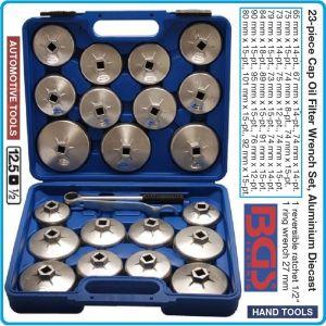 """Ключове за маслен филтър, универсални 1/2"""", 23 части к-т, BGS, 1035"""