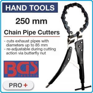Тръборез верижен 250mm, за ауспухови тръби, Ø85mm, BGS, 133