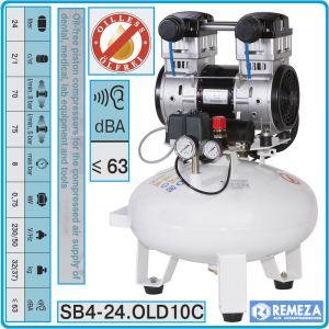 Компресор медицински, безмаслен, 24L, 70l/min, 8Bar, AirCast, SB24OLD10С/M