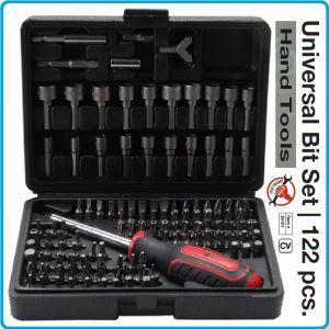 """Отвертка с накрайници, 1/4"""", вложки и специални битове, 6.3mm, к-т 122 броя, Kraftmann, 20101"""