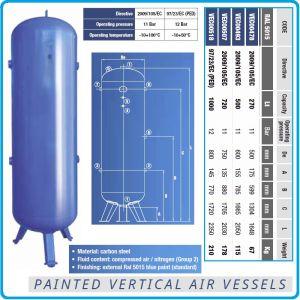 Ресивър, вертикален резервоар за сгъстен въздух, V270 - 1000L, 11Bar, Coinox