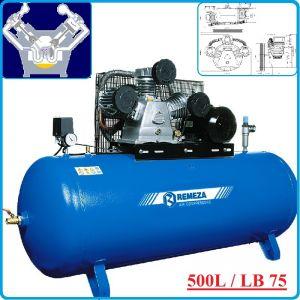 Компресор, Бутален, 500L, 880 L/min, 10Bar, AirCast, F500.LB75