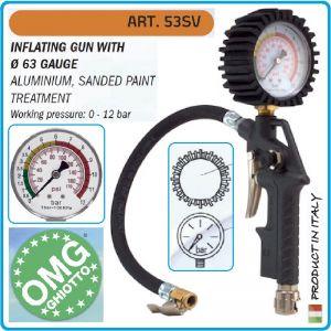 Пистолет за гуми, с манометър, 12 Bar, OMG, 53SV