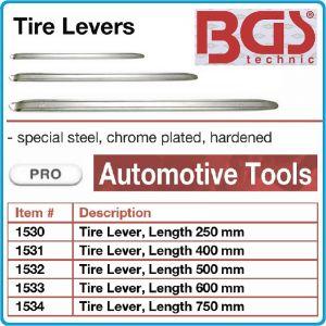 Щанга за гуми, лост хромиран, 5 размера, 250-750mm, BGS 153-0/4