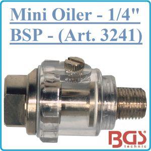 """Омаслител, мини, за инструменти на въздух, 1/4"""", BGS, 3241"""