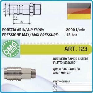 Бърза връзка, накрайник, за въздух, с резба, 3 размера, OMG, 123