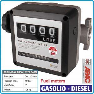 Разходомер за гориво, аналогов брояч, 10Bar, 120L/min, APAC, 1770.D4CM