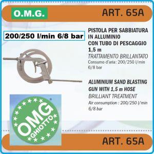 Пясъкоструен пистолет, пневматичен, за варел, 250l/m, 8Bar, OMG, 65A