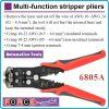 Клещи кабелозачистващи, за рязане и кримпване, к-т 10-22-24AWG, 0.5-6-8mm, Force, 6805A