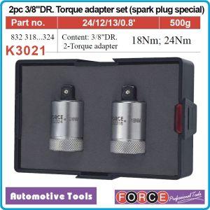 """Адаптори динамометрични за свещи комплект, 2бр глави на 3/8"""", 18Nm и 24Nm, FORCE, K3021."""