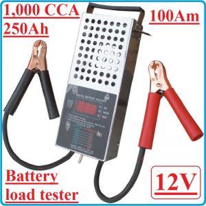 Тестер за акумулатори, товарна вилка, 12V, 100A, BGS, 63500