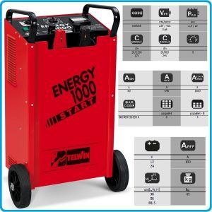 Зарядно, стартерно, устройство, 12-24V, 20-1200Ah, Telwin, E1000S