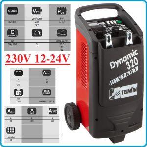 Зарядно, стартерно, устройство, 12-24V, 20-700Ah, Telwin, D320S