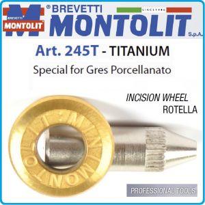 Ролка, резервна, за керамика, машина за плочи, Ø6x13.5mm, Montolit, Titanium 245T