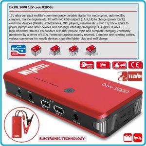 Стартиращо устройство, външна батерия, 12V, LiPo, 9Ah, Telwin, DRIVE 9000